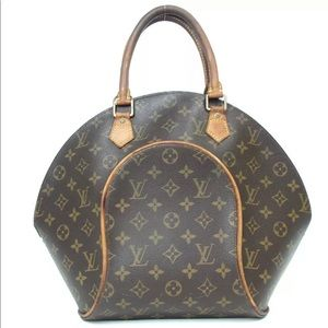 Auth Louis Vuitton Ellipse MM Satchel Bag L22SA162
